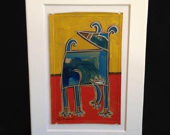 """Acrylic Dog Painting  - """"Lowly"""""""