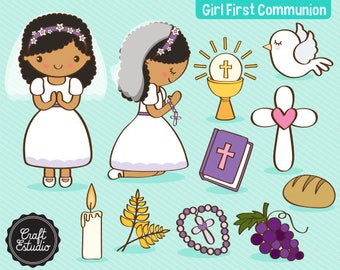 Primera Comunión, First Communion, Girl, Catholic, Instant Download, Digital Paper, Clipart, High Resolution, JPG Scrapbooking, PNG Clipart