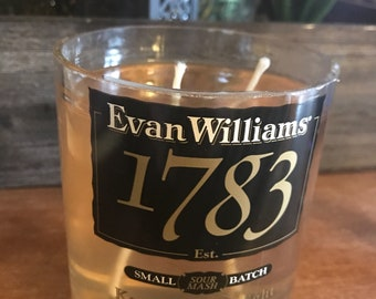 Clear Evan Williams Candle