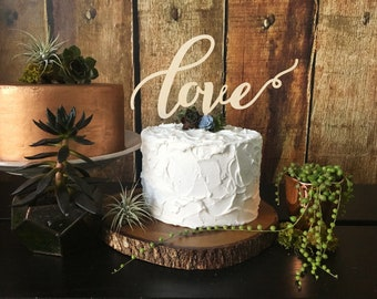 Love Wedding Cake Topper, Love Cake Topper, Rustic cake topper, Wedding Cake Toppers, Wedding cake, Script Cake Topper, Glittery Cake Topper