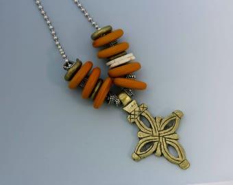 Collier croix copte éthiopienne. N ° 7.