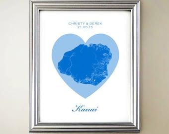 Kauai Heart Map