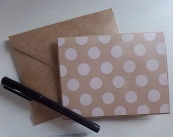 White polka  dot design blank card set, stationery set