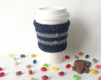 Harry Potter Knit Coffee Cup Cozy Ravenclaw House Sleeve To-Go Cup / Teacher Neighbor Friend Family Gift Present Stocking Stuffer