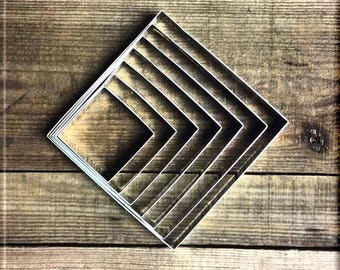 Set of 7 Square Metal Cookie Cutters
