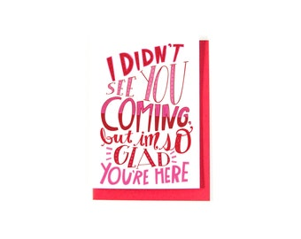 Romantic Love Card - Long Distance Relationship Card - Happy Anniversary Card - I Love You Card - I Miss You Card - Just Because