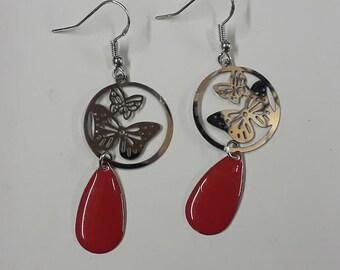 pair of 925 Sterling Silver earrings