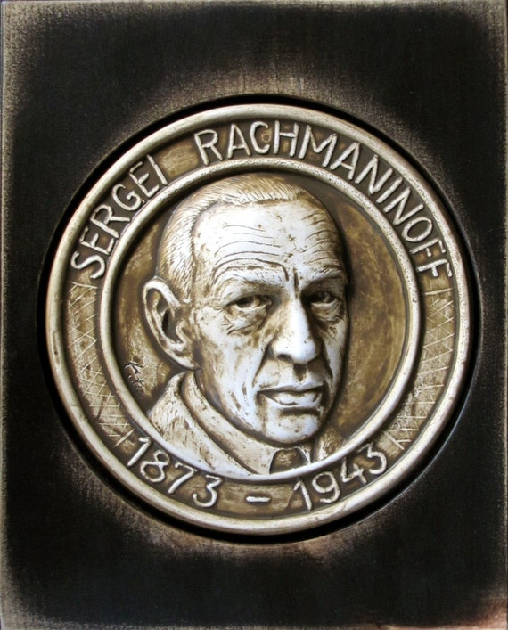 katemi plaque famous people series s rachmaninoff. Black Bedroom Furniture Sets. Home Design Ideas