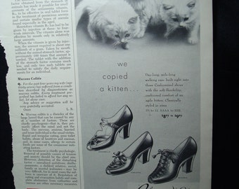 1953 CUSHIONIZED Shoes Ad.