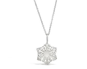 Snowflake Pendant - Snowflake Charm - Snowflake Ornament - Silver Snowflake Necklace Pendant - Snowflake Jewelry