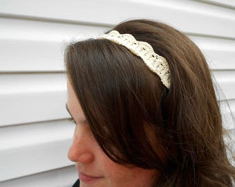 Classic Summer Headband - Women's Headband - Ladies Fashion Headband - Ivory Headband - Teen Hairband - Spring Headband