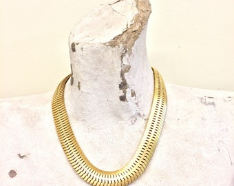 Vintage Necklace | Gold Tone | Gold Necklace | Vintage Jewelry | Statement Necklace | Link Necklace | Costume Jewelry | Valentines Day