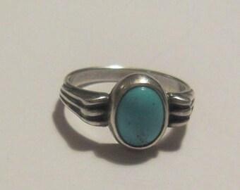Silver Ring Arizona Turquoise