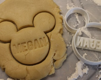 Mickey Mouse Personalized Cookie Cutter and Fondant Cutter,Disney Cookie Cutter, Party Supply,Birthday, Child Party,Children Party