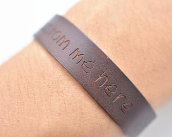 Leather bracelets for women, personalized leather wrap, custom bracelet, mens bracelet, wedding gift, anniversary, christmas gifts,