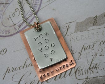 Cosmic Charlie lyrics / Grateful Dead jewelry / Grateful Dead necklace / how do you do / Grateful Dead birthday gift