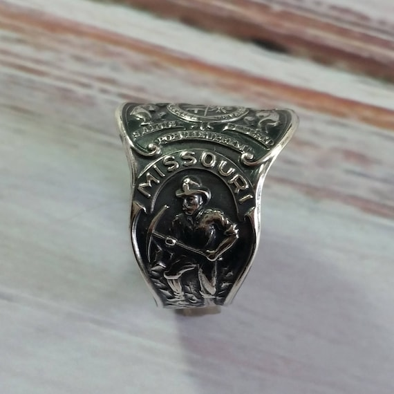 Missouri Souvenier Sterling Silver Spoon RIng, Boho Spoon Ring, State Spoon