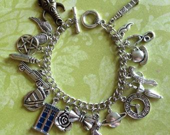 SuperWhoLock Charm Bracelet
