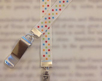 Dance bookmark / Dancer bookmark - Attach clip to book cover then mark the page with the ribbon. Never lose your bookmark!