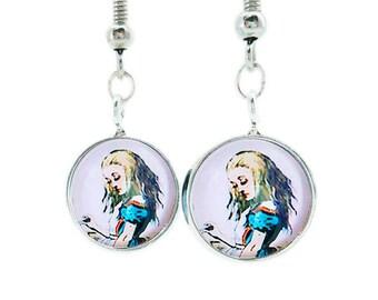 Alice in Wonderland Earrings Pendant Dangle Hook Lewis Carroll