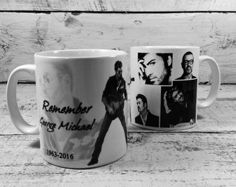New Remember George Michael 1963-2016 Mug Cup 11oz Tribute Remember Rest In Peace RIP Music Fan Lover Gift Present Memorabilia
