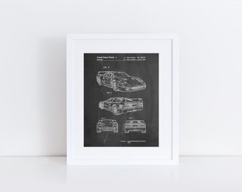 F40 Patent Poster, Car Decor, Automotive Art, Exotic Sports Car, Mechanic Gift, Teen Boy Wall Decor, PP0108
