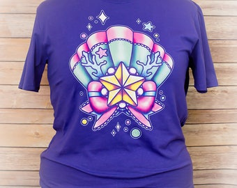 Sea Princess Pastel Graphic T Shirt