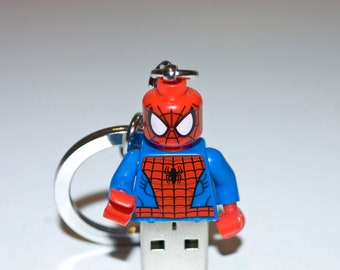 128GB Spider-Man USB Flash Drive with Key Chain