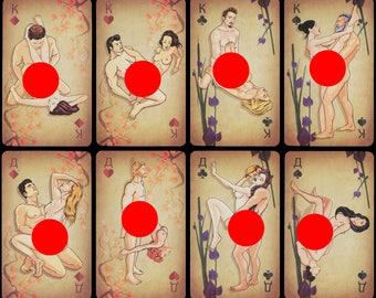 Erotische Spielkarten KAMASUTRA