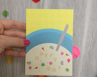 """Lucky Charms"" card"