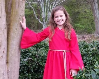 Red Medieval/Renaissance Princess Costume Size 7/8