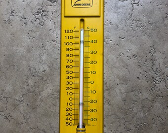 Vintage John Deere Thermometer Advertising Sign