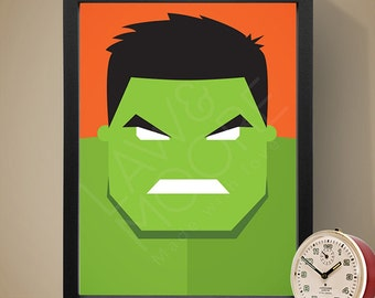 Hulk Superhero Print, Superhero Poster, Movie Poster, Film Poster, Wall Print