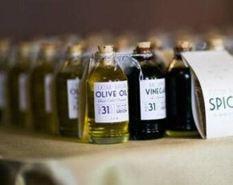 Olive Oil & Balsamic Favors Oil and Vinegar Favors Italian