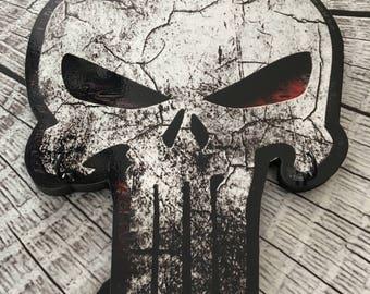Produce Skull Logo Keychain setting key Decoration Punisher skull skull Decoration