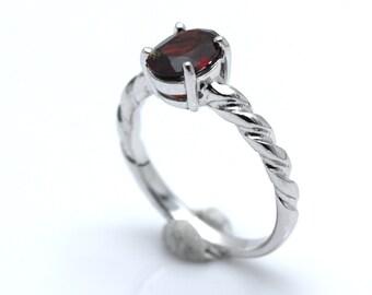 Garnet ring, Garnet women ring,Women ring,silver ring 925.