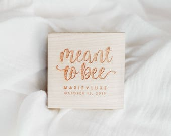 Meant to Bee Stamp -  Personalized Wedding Favor Stamp, Honey Wedding Favor, Bee and Honey Favor Idea, Honey Wedding, Honey Wedding Favor