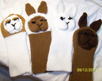Crochet llama golf club covers ANY colors you want you can order 1 or 4 ANY animals you want