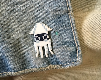 player hater pin - super mario blooper pin