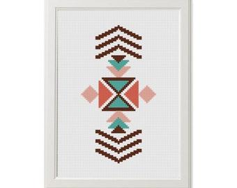modern cross stitch pattern native cross stitch boho tribal cross stitch Ethnic  Geometric cross stitch, Navajo, xstitch instant download