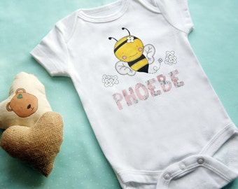 Personalised Bumble Bee Baby Vest