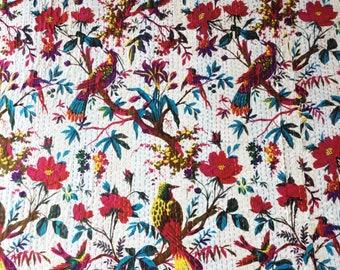 Kantha Quilted Bedspread - Handmade Kantha Quilt - Kantha Bedspread - Kantha Throw - Indian Quilt - Kantha - Boho Quilt