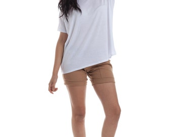 Womens Shirts, White Tops, Oversized Blouse, Saturday Top, Made in USA, Maternity tops, oversize shirts, white tees, basic tees, basics