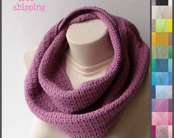 Hand knit scarf, Chunky knit scarf, Scarfs, Winter scarf, Knit loop scarf, Infinity scarf for women, Infinity scarf, Crochet circle scarf.