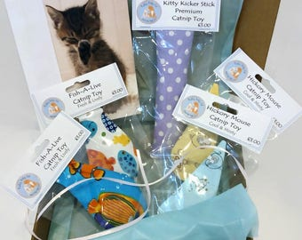 Deluxe Cat Toys, Toys for Cats, Cat Toys and Gifts, Birthday Gift for Cat, Gift Box for Cat, Catnip Toys, Gift for Cat Lover