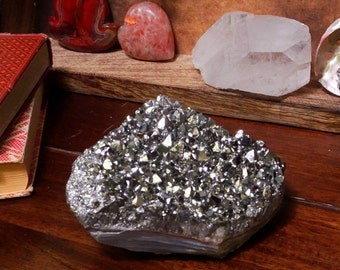 Platinum Amethyst Aura Crystal Quartz Point Cluster - ONE OF A Kind (GS-52)