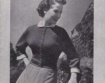 ON SALE Vintage 1940s - Paton's Knitting Pattern No 354 For Women/Ladies - Original Pattern