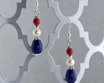 Liberty Pearl Earrings - E2668 - Free Shipping