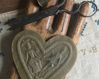STACY NASH PRIMITIVES Heart 100% Beeswax Waxer counted cross stitch at thecottageneedle.com quilting sewing appliqué