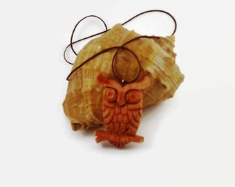 Owl pendant gift for mom eco friendly college graduation Wooden pendant Gift for her Womens gift Wife gift Gift for wife Girlfriend gift